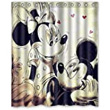 Outer-space POPcases Supplier Flawless Creative gorgeous retro Mickey Mouse Shower Curtain Shower 100% WaterProof Polyester Fabric 60