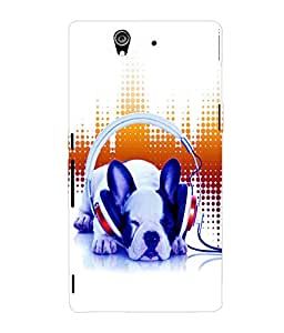 printtech Dog Music Vibe cute Back Case Cover for Sony Xperia Z::Sony Xperia Z L36h
