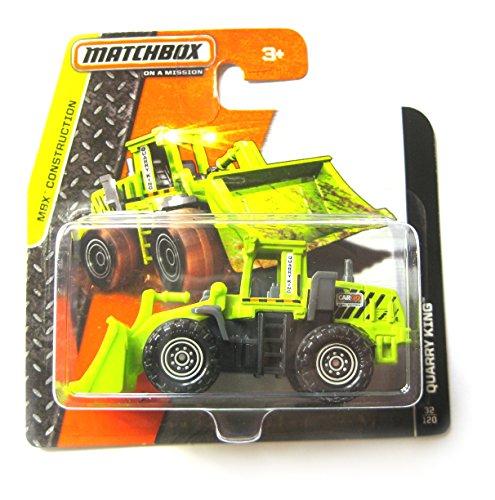 Matchbox Schaufellader Quarry King grün - Radlader Bagger - MBX - Matchbox Baustelle