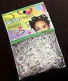 Packung mit 250 Stück. Super-elastische Haargummis. Nützliches Accessoire für eine Vielzahl von Frisuren.