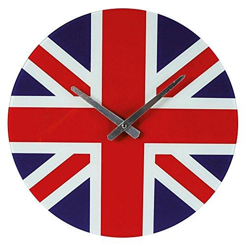 Preis am Stiel 1x Wanduhr Union Jack | Modern | Groß | Uhr | Geschenk für Männer und Frauen | für Wohnzimmer | Dekoration | Schmücken | Küchenuhr Uhr Jack