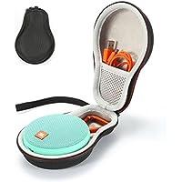 Sacoche de transport rigide pour transporter JBL Clip 2 Haut-parleur portable sans fil Bluetooth. Convient au câble USB -Black