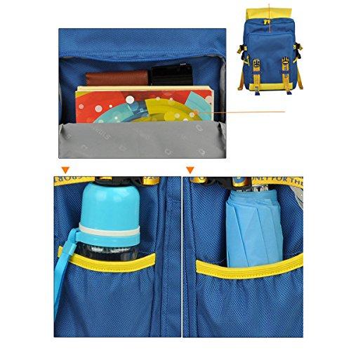JNTworld Mode Reise Laptop Computer Geschäft Multifunktions Rucksack Gelb&Blau