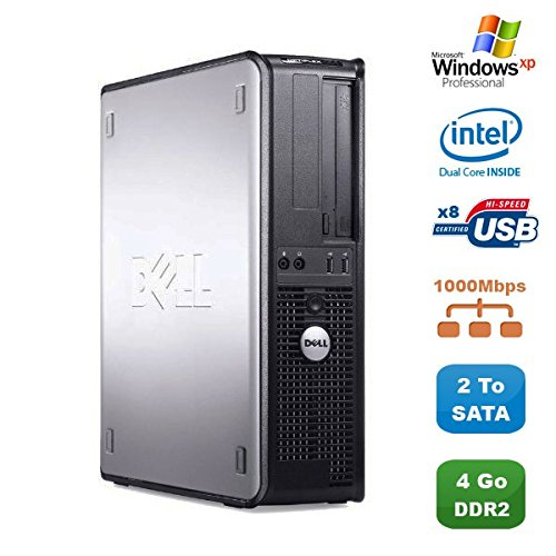 PC Dell Optiplex 760 DT Intel Dual Core E5200 2,5 GHz 4 GB DDR2 Gunmetal SATA XP - Windows Xp-cd Dell