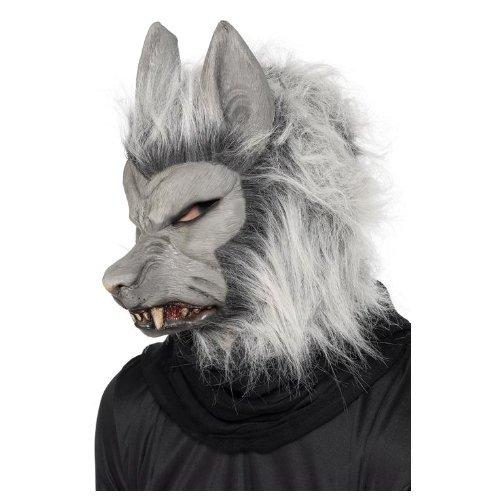 Smiffys, Herren Werwolf Maske mit Haaren und Ohren, One Size, 24130 (Scary Werwolf Maske)