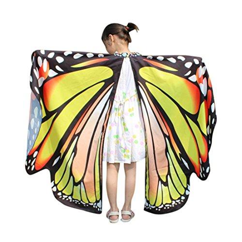 QinMM Kind Baby Mädchen Schmetterlingsflügel Pixie Poncho KostümzubehörVon -