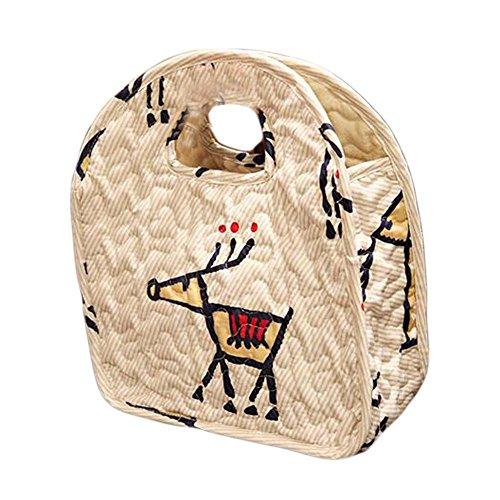 Mittagessen-Einkaufstasche Niedliche Picknick-Beutel-Baumwoll-wiederverwendbare Mittagessen-Tasche Ö