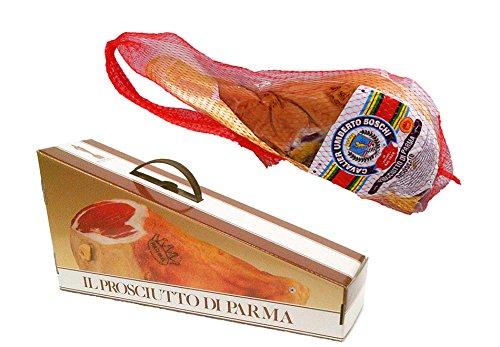 PROSCIUTTO DI PARMA g.U. (Cav. U. Boschi) Halber, Schinken Gewicht ca. 3,7 kg.+ Geschenkbox