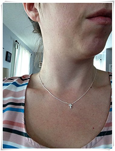 Hand made tiny cross necklacesilver