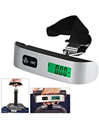 EzLife Portable LCD Digital Hanging Luggage Scale (Multicolour)
