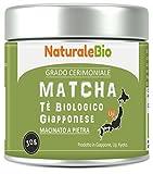 Té verde ecológico en polvo orgánico | 1 grado de té verde japonés | Bio Matcha Ceremonia grado A | El producto en Japón Uji, Kyoto Ideal para beber, cocinar y leche | Tin de 30 gr | NATURALEBIO®