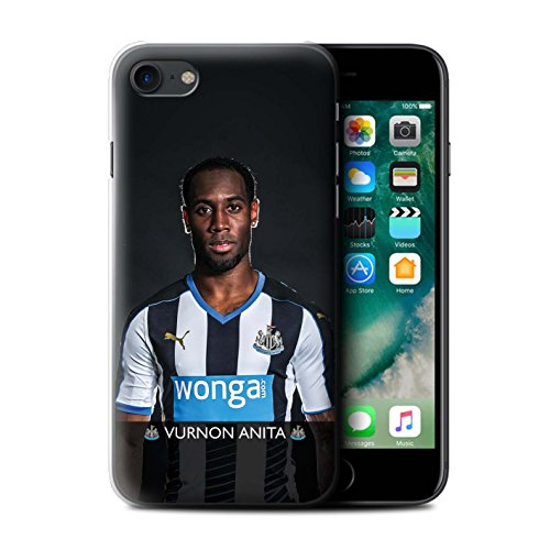 Offiziell Newcastle United FC Hülle / Case für Apple iPhone 7 / Pack 25pcs Muster / NUFC Fussballspieler 15/16 Kollektion Anita