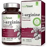 Cápsulas L-Arginina con Aminoácidos Libres Nutritrust100% Pura para Resultados Óptimos Función Muscular Normal Fórmula Apta para Veganos para la Mejora del Estado Físico y el Rendimiento.