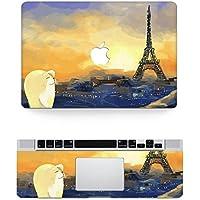 Vati fogli smontabili La Torre Eiffel protettiva copertura completa di arte del vinile Decal Sticker Cover per Apple MacBook Air 12