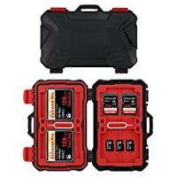 Philonext 24 Slots Memory Card Case Box Holder Water-Resistant & Shockproof Card Storage Carrying HolderCaseforCF/SD/TFCard