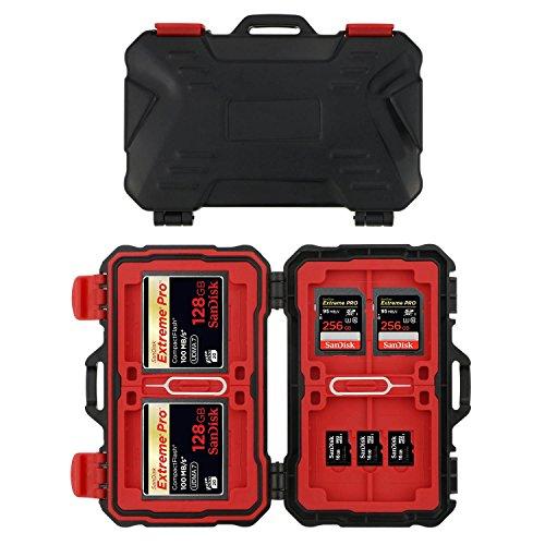 Philonext 24 slot scheda di memoria custodia portacarte resistente all'acqua e antiurto custodia contenitore per scheda cf/sd/tf