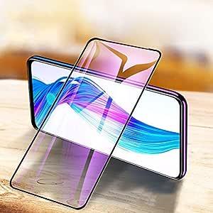 COMORO Premium Tempered Glass For Vivo V17 Pro Temper Glass Edge to Edge Protection 9H Hardness Full Glue Cover Friendly Anti Scratch (Black) - Pack Of 1 (11D GLASS)