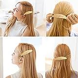 OULII 2pcs feuille / plume en forme Clip broche griffe Accessoires Déguisements accessoires pour cheveux (or + argent)
