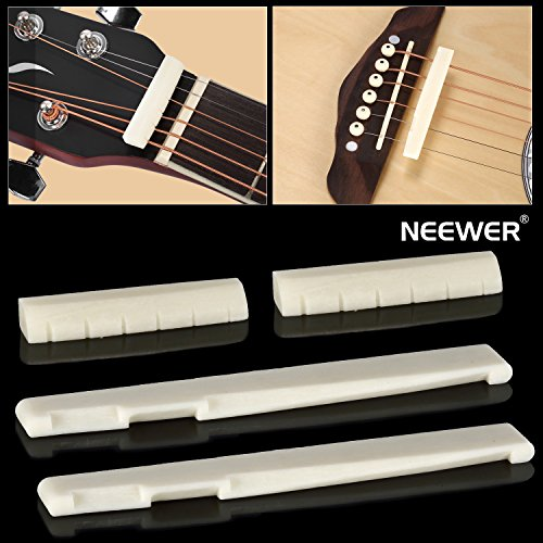 neewerr-2-sets-of-6-string-acoustic-guitar-bone-bridge-saddle-and-nut-made-of-high-quality-real-oxen