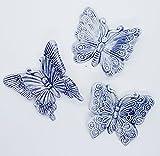 Set di Farfalle Decorate a mano Le Ceramiche del Castello Nina Palomba Made in Italy Dimensioni 8 x 8 centimetri