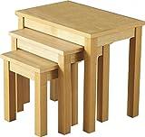 Home Essentials Oakleigh Nest von Tabellen in Eiche Natur Furnier