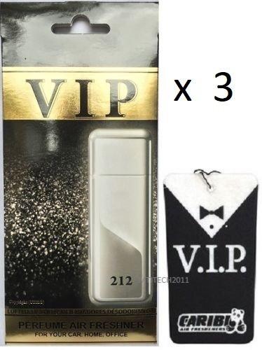 3x Caribi VIP Auto Lufterfrischer Parfüm HEIM BÜRO Duft ähnlich wie teures Parfüm - №212