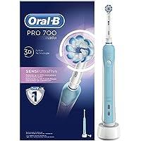 Oral-B PRO700 Sensi Ultrathin Brosse à Dents Électrique Rechargeable par Bleu, 1Manche, 1Brossette