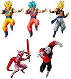 DRAGON BALL SUPER Complete Set 5 FIGURES Battle Figures SERIES 04 Bandai Gashapon DRAGONBALL
