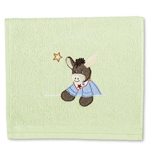 Sterntaler 96244 Kinderhandtuch Esel Emmi, 30 x 50 cm, hellgrün