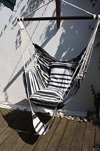 Dekomiro Hamac – Hamac avec Barre Zebra et Deux taies d'oreiller