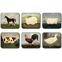Jason D2432 Animal Collection Coasters, Set of 6