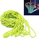 ETCBUYS Brilla en la oscuridad baloncesto aro de baloncesto Net y-al aire libre Accesorios, Reglamento tamaño estándar para llantas fuera de baloncesto, Niños Tablero y borde
