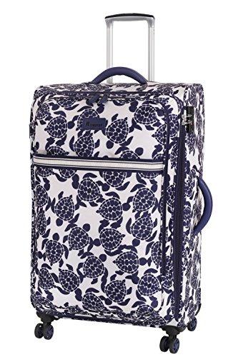 it luggage Nautical Turtles 8 Wheel Lightweight Semi Expander Suitcase Large Koffer, 77 cm, 111 liters, Mehrfarbig (Navy/Cream Sea Print)