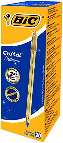 bic-cristal-celebrate-gold-paquete-de-20-unidades