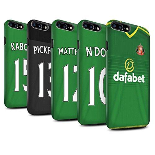 Offiziell Sunderland AFC Hülle / Matte Harten Stoßfest Case für Apple iPhone 7 Plus / Khazri Muster / SAFC Trikot Away 15/16 Kollektion Pack 24pcs