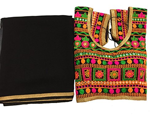 Balaji Fashion Brocade & Georgette Saree (D.No Dvs 5067_Multi-Coloured)