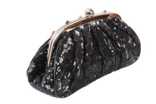 Frauen Glänzenden Pailletten Dazzling Glitter Bling Abend Kupplung Partei Tasche Handtasche Geschenk schwarz Verbraucher Zuerst