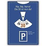 1 Geburtstagskarte: Lustige Einladungskarte zum 30. Geburtstag: Hip, hip, hurra! Die 30 ist nun da!