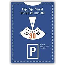 1 Geburtstagskarte: Lustige Einladungskarte Zum 30. Geburtstag: Hip, Hip,  Hurra!