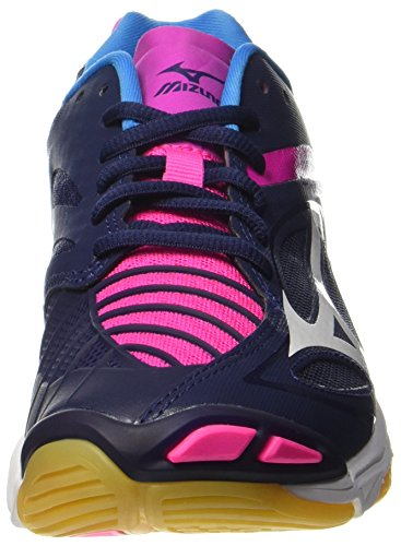 Mizuno Damen Wave Lampo Z3 W Volleyballschuhe Mehrfarbig (peacoat / White / Pinkglo)