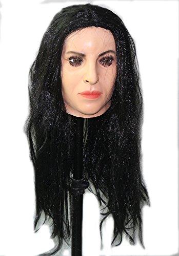 Frauen Maske aus Latex mit Perücke Weich & Sexy