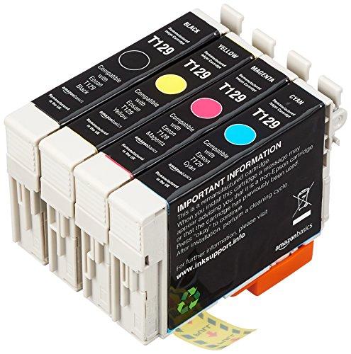 AmazonBasics - Wiederaufbereitete Tintenpatrone für Epson Apple T1295 4-Farben-Multipack