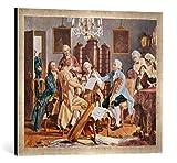 Gerahmtes Bild von Julius Schmid Haydn-Quartett, Kunstdruck im hochwertigen handgefertigten Bilder-Rahmen, 70x50 cm, Silber Raya