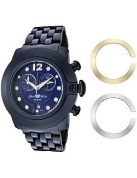 Glam Rock Unisex Quarzuhr mit blauem Zifferblatt Analog-Anzeige und-Armband Edelstahl 0.96.2579