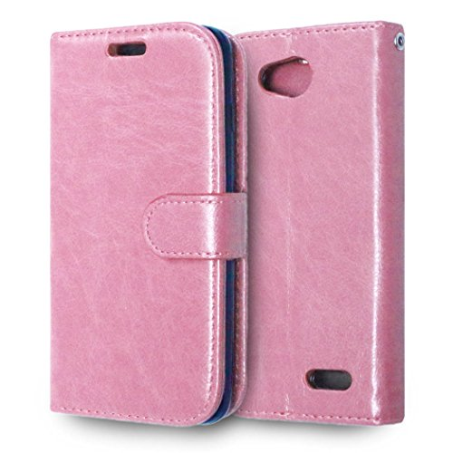 casefirst LG L90 Wallet Case, LG L90 Leather Case, Premium PU Leather Anti-Scratch Folio Stand Bumper Back Cover for LG L90 - Pink (Lg L90 Case Folio)