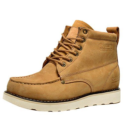 Insun , Herren Stiefel, gelb - Cowhide Leather Camel - Größe: 40 - Cold Weather Combat Boots