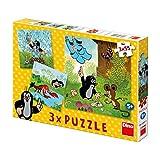 Dinotoys 335011 3x55 Stücke von hoher Qualität PuzzleKleines Maulwurf-Motiv