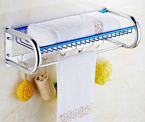 Accessori bagno asciugamano rack bagno cestino asciugamano rack spazio alluminio
