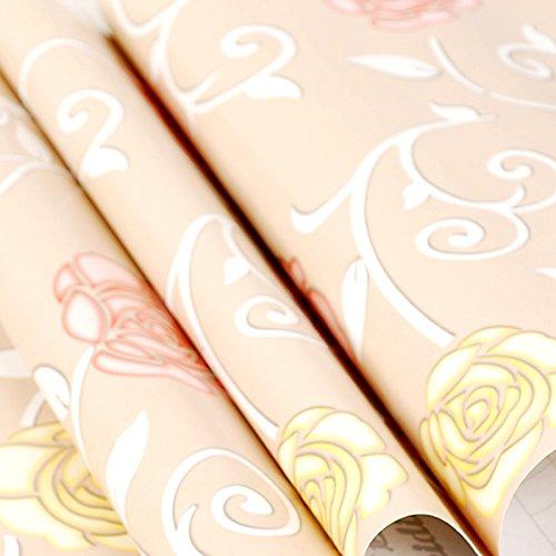 Zhzhco Selbstklebende Pvc-Tapeten Kleber Hintergrundbild Wasser Wild Schlafzimmer Wohnzimmer Wand Aufkleber Aufkleber 45Cm*10M