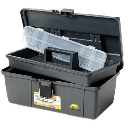 Plano 452-006 Grab-N-Go 16-Inch Tool Box with Tray by Plano Molding - Pull-out Tray